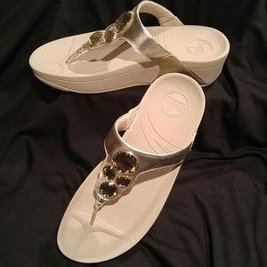 Fitflop Lunetta Silver Sandal